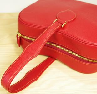 林檎の革鞄:レザーバッグ:レディース