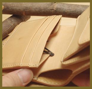 ハーフウォレット(革財布)
