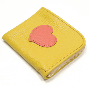 L字ファスナーミニ財布:ハート