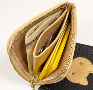 L字ファスナーミニ財布:ネコ
