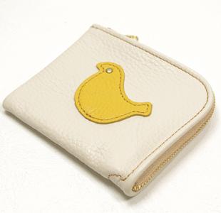 L字ファスナーミニ財布:鳥(トリ)
