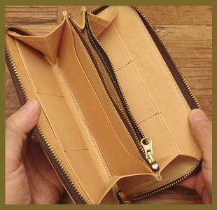 カービング・ラウンドファスナー(財布)